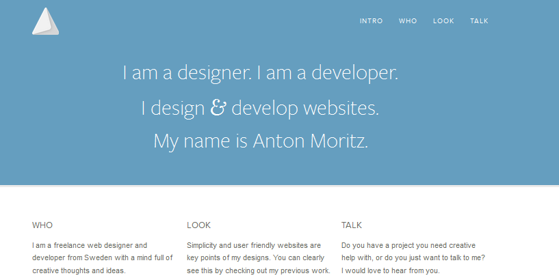 personal homepage design inspiration 5