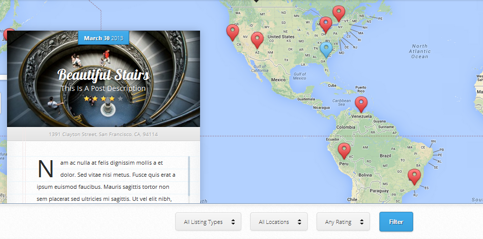 wordpress themes with interactive map 1
