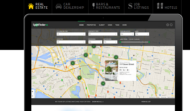 wordpress themes with interactive map 4