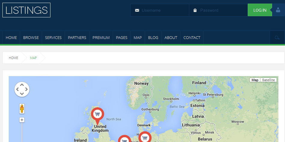 wordpress themes with interactive map 5