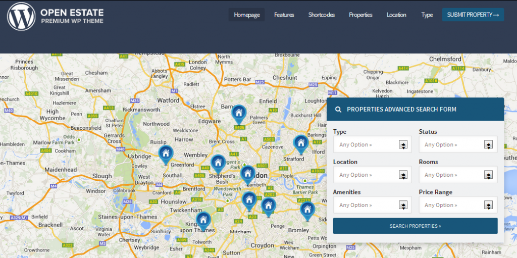 wordpress themes with interactive map 7