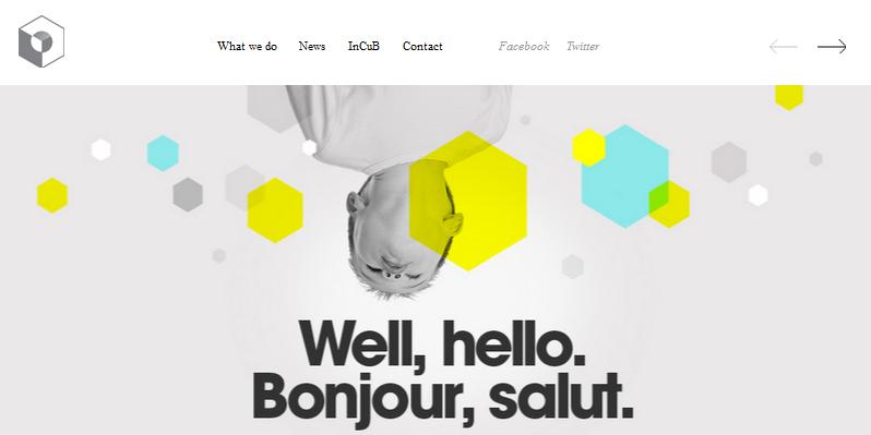 Hexagon web design 10