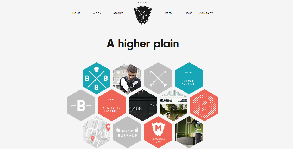 Hexagon web design 4
