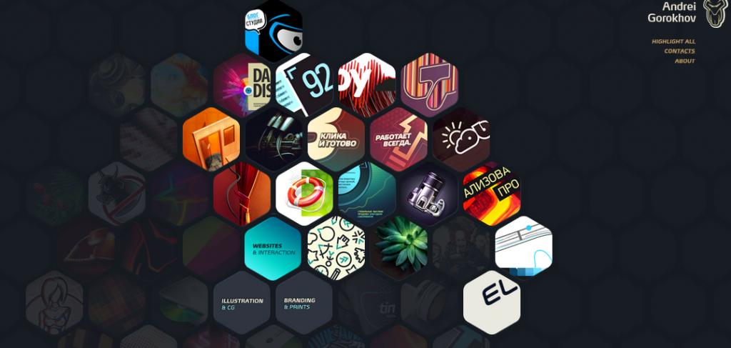 Hexagon web design 5