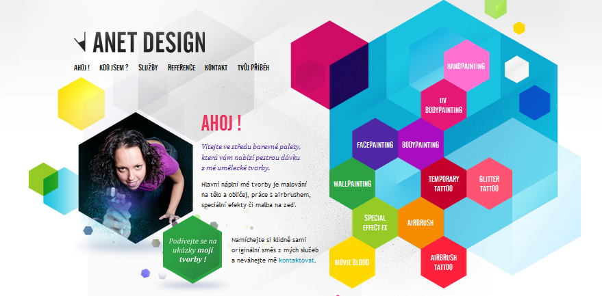 Hexagon web design 7