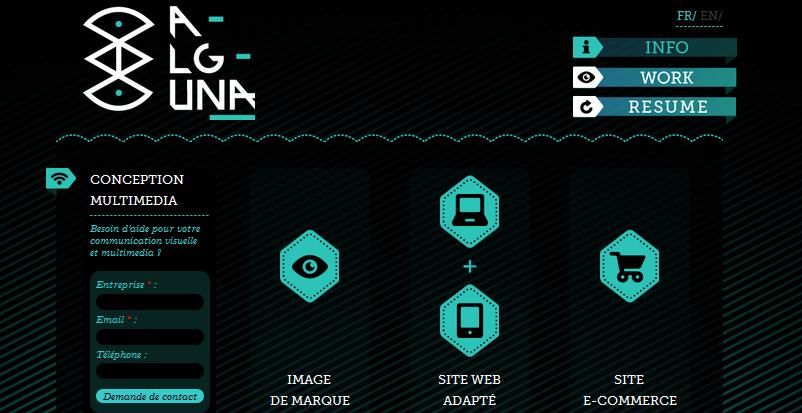 Hexagon web design 9