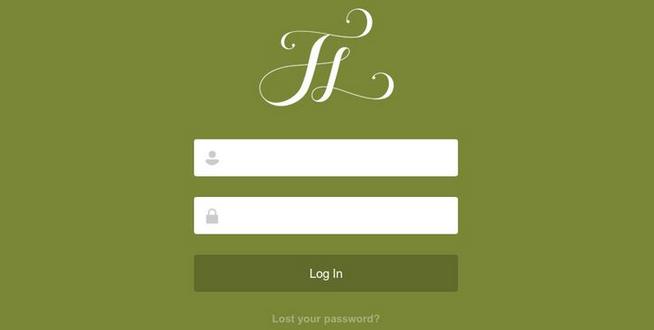 flat login design 10