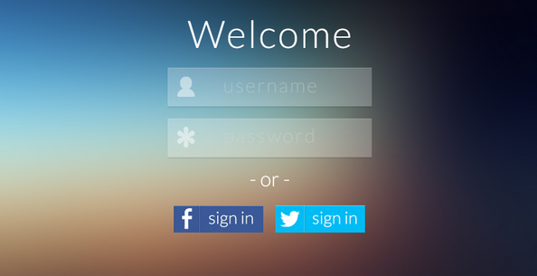 15 gorgeous flat design login page and screen