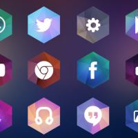 free hexagon icon set 1