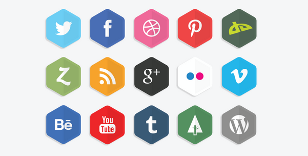 free hexagon icon set 10