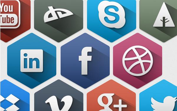 free hexagon icon set 6