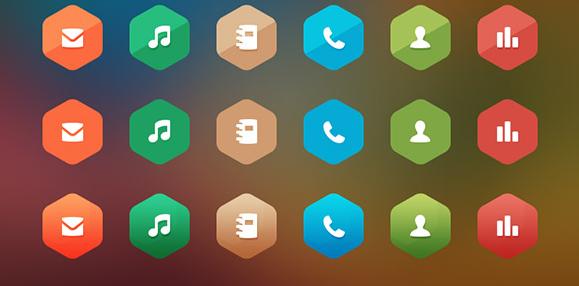 free hexagon icon set 8