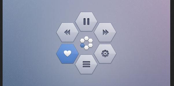free hexagon icon set 9