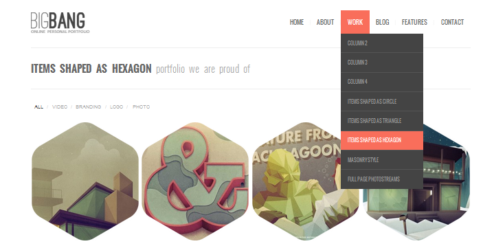 hexagon wordpress theme 3