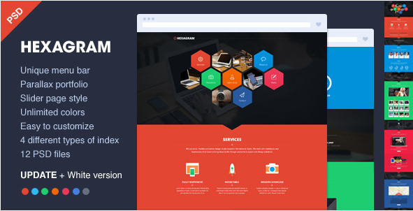 hexagon wordpress theme 8