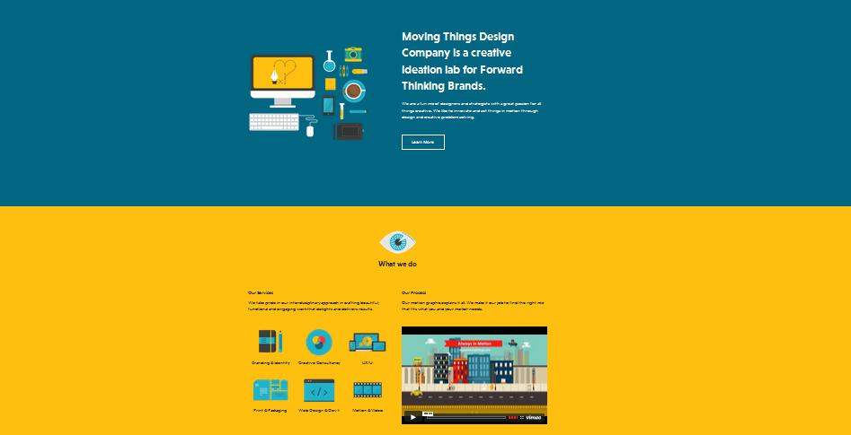 single page flat design 1