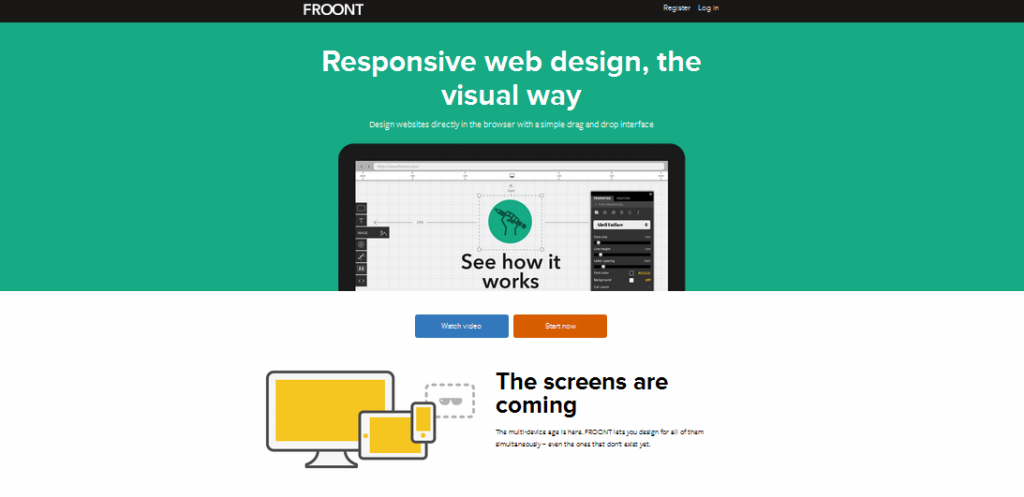 single page flat design 3