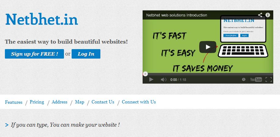 single page website creator 5
