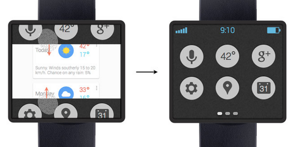 smartwatch interface design example 2
