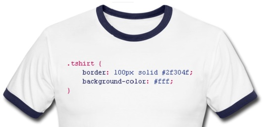 专门为码农定制的14款创意的T裇(T-Shirt)设计