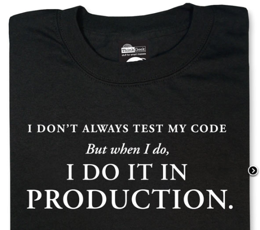 007 I dont always test my code