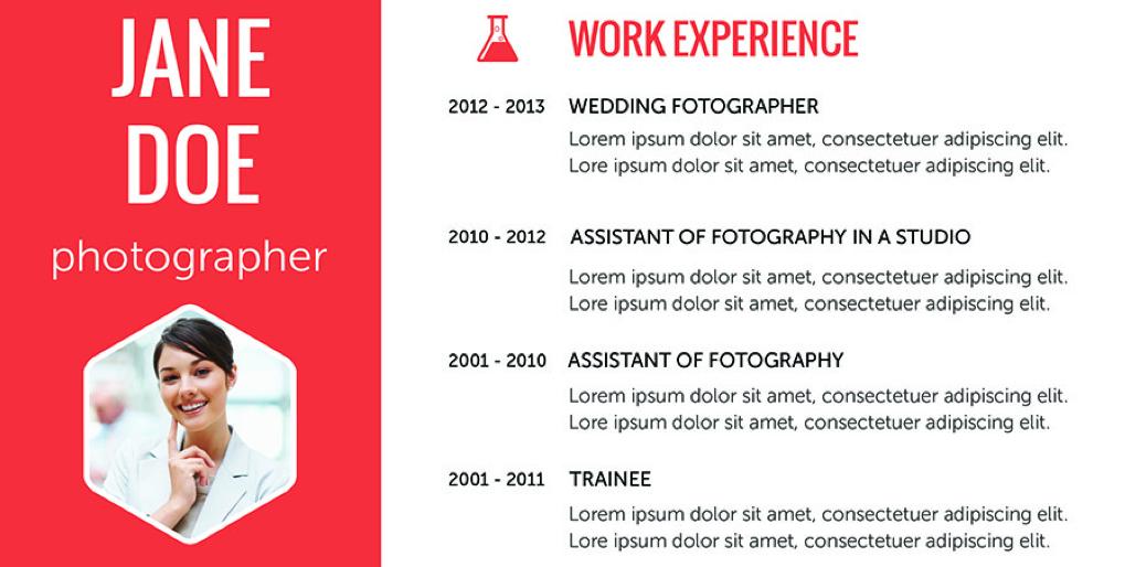 Flat resume design 10