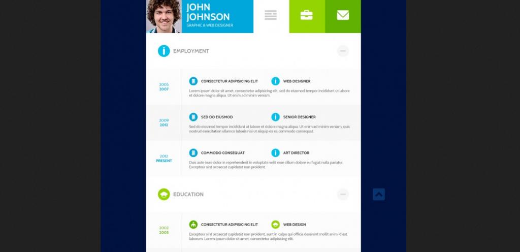 Flat resume design 2