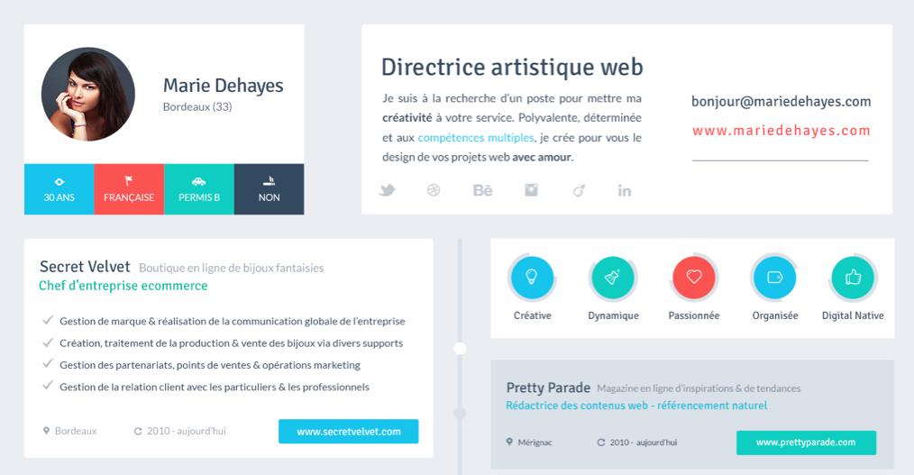 Flat resume design 4