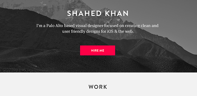 Flat resume design 5