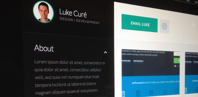 Flat resume design 6