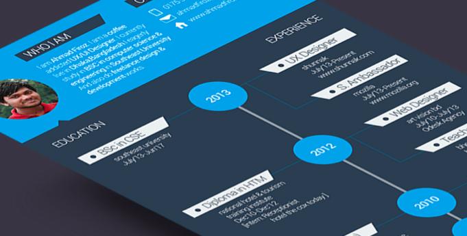 Flat resume design 7