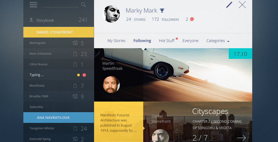 flat dashboard design 8