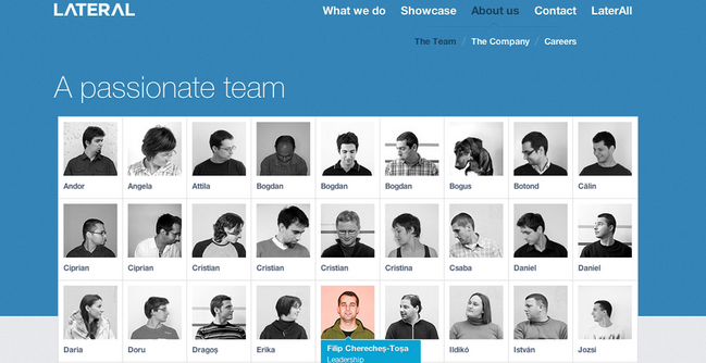 team page design inspiration 2