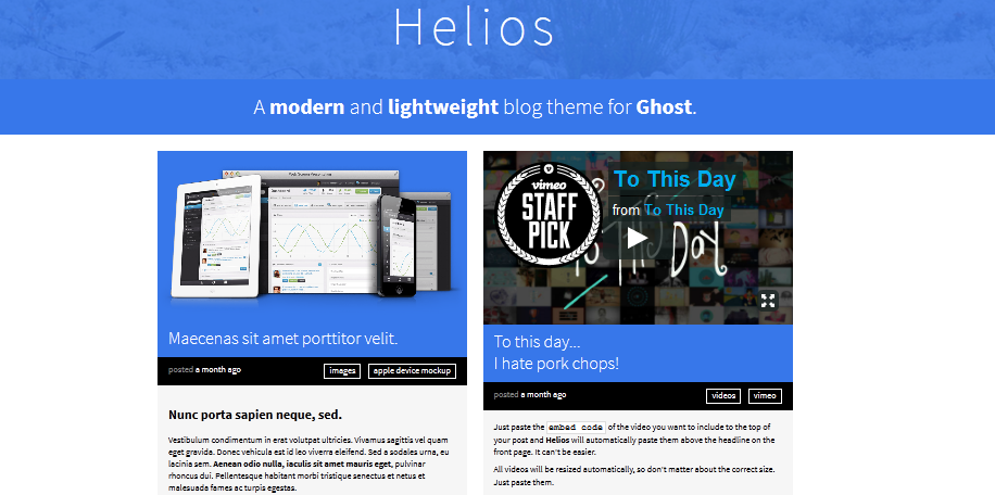 Best premium ghost blogging themes for 2014 8