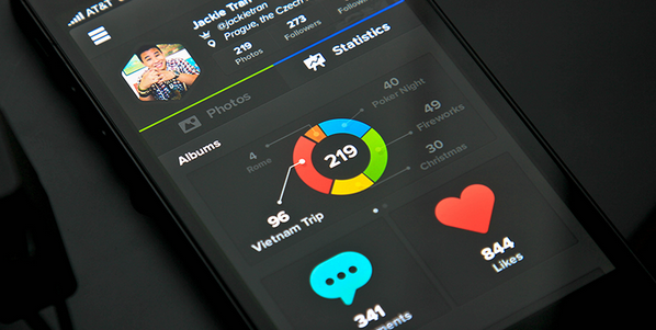 Data visualization inspirations for mobile and app 6