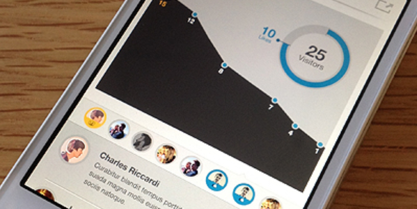 Data visualization inspirations for mobile and app 9png