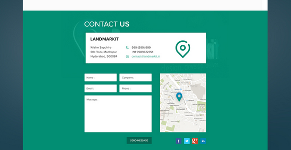 flat design contact us page 1