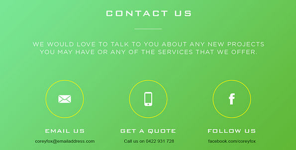 flat design contact us page 2