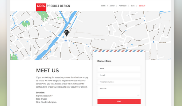 flat design contact us page 4