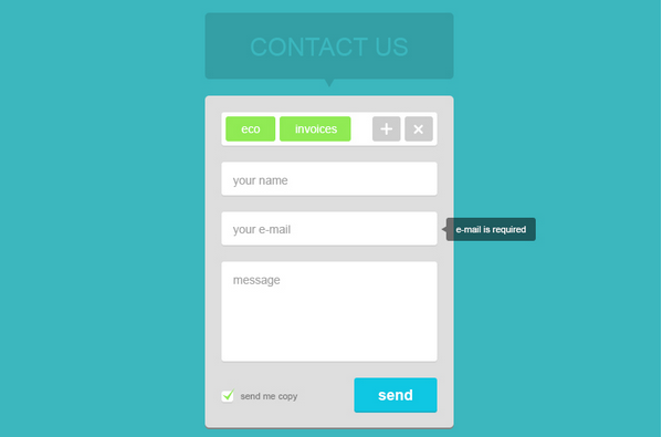 flat design contact us page 7
