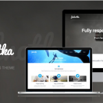 flat wordpress theme for business 1