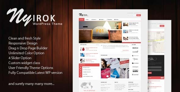 flat wordpress theme for business 10
