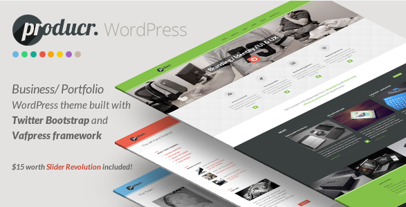 flat wordpress theme for business 3