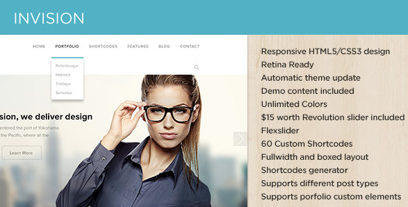 flat wordpress theme for business 7