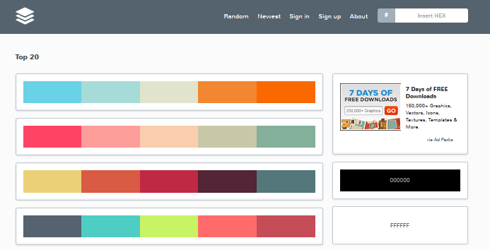 color palette generator for 2014 7