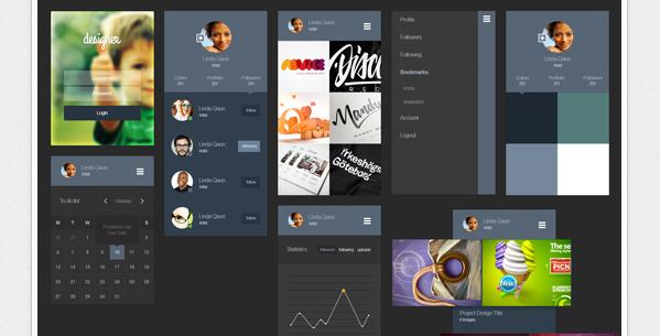 free UI kits 2014 2