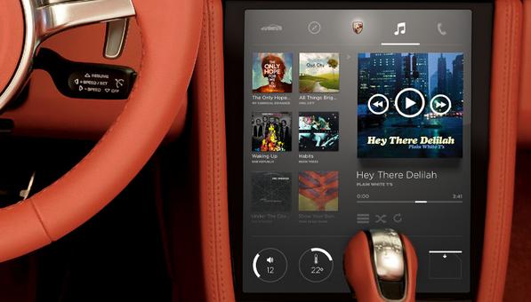 in car dashboard UI design 6