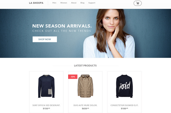 free psd ecommerce templates for 2014 1