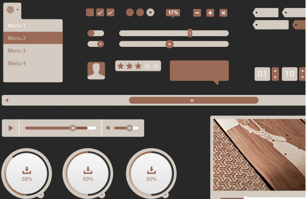 free ui kit psd march 2014 10