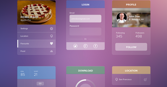 free ui kit psd march 2014 11